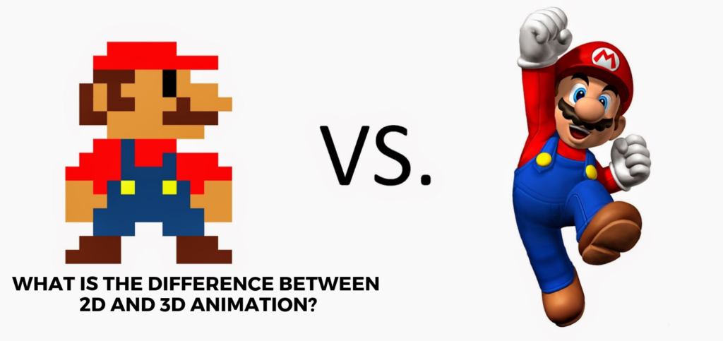 What is the difference between 2d and 3D animation?